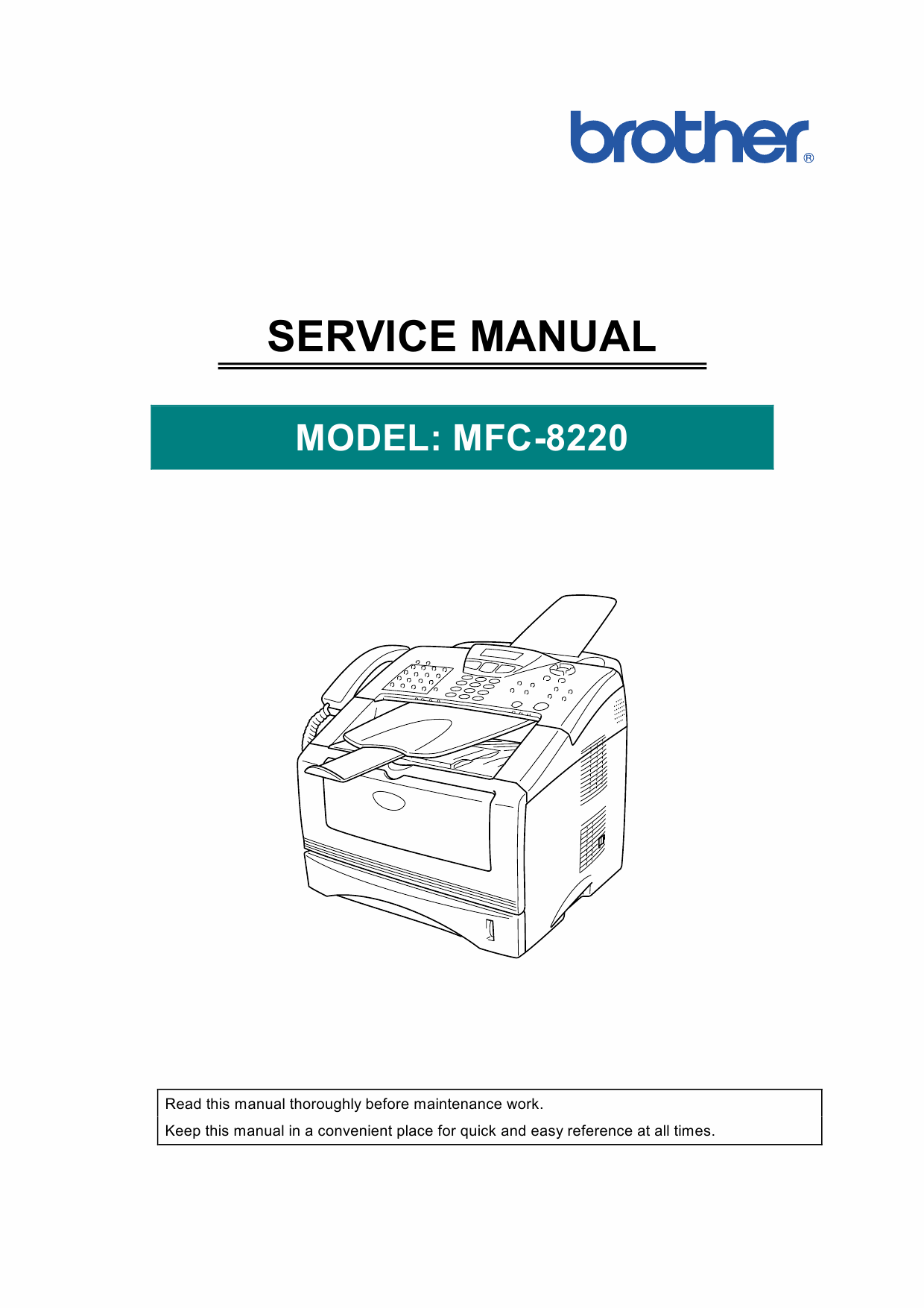 brother mfc 240c service manual